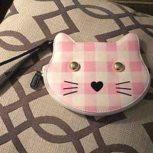 Betsey Johnson cat wristlet
